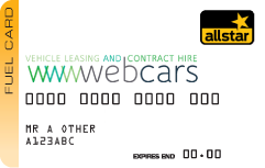 the webcars fuel card